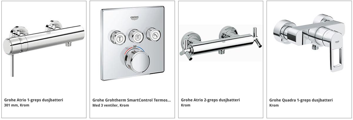 Hvilken dusj skal jeg velge DUSJBATTERI GROHE HANSGROHE