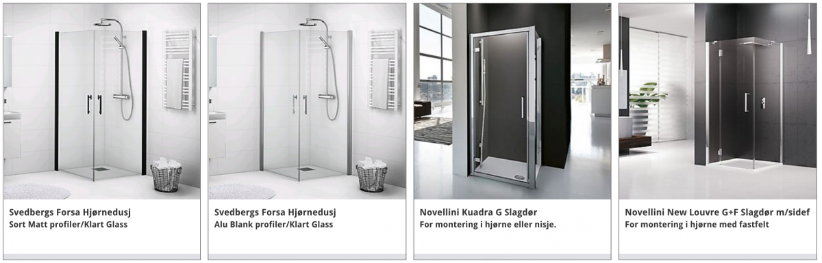 Hvilken dusj skal jeg velge NOVELLINI dusjhjørne