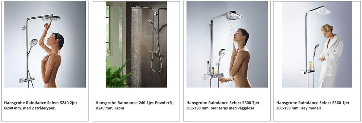 hvilken dusj skal jeg velge SHOWERPIPE GROHE HANSGROHE