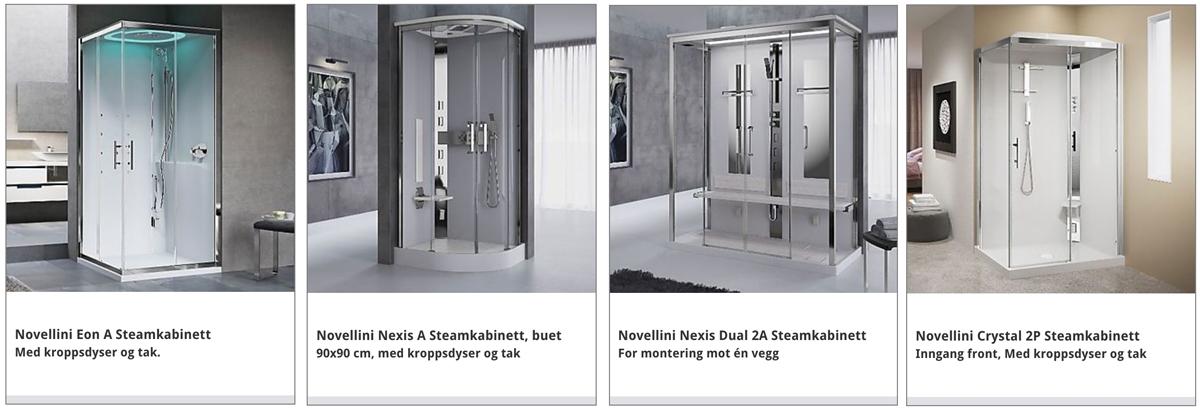 Hvilken dusj skal jeg velge NOVELLINI steamkabinett