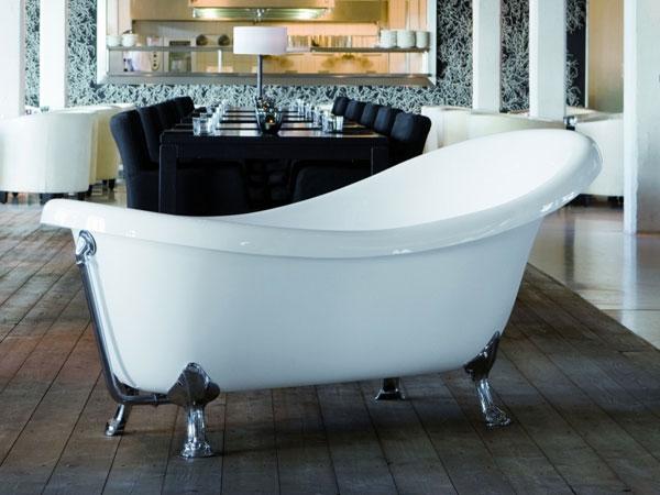 Knief Victorian Frittstående badekar med løveføtter