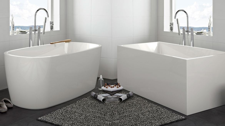 Frittstående badekar fra Hafa