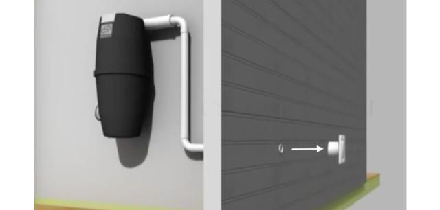 God plass mellom gulv og beholder, samt kort vei til utblåsningsventil