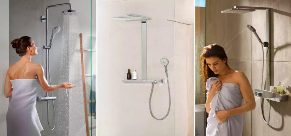 Hvordan velge riktig dusj – Hansgrohe showerpipes