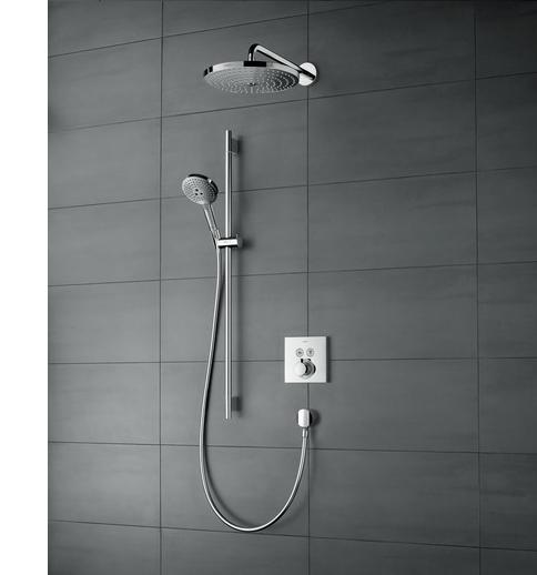 Hvordan velge riktig dusj ? innebygget system fra Hansgrohe