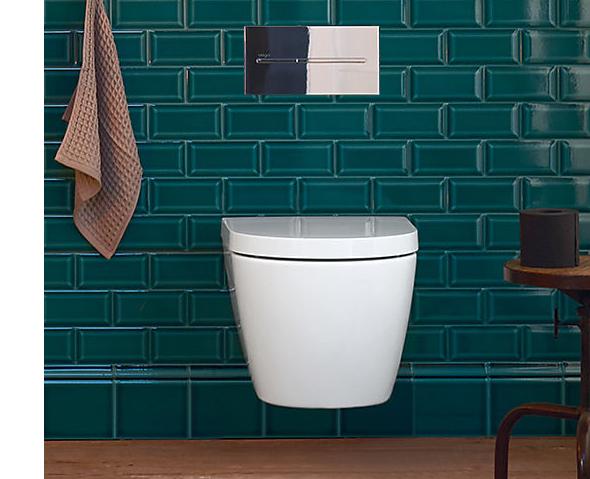 innred et lite bad compact toalett vegghengt