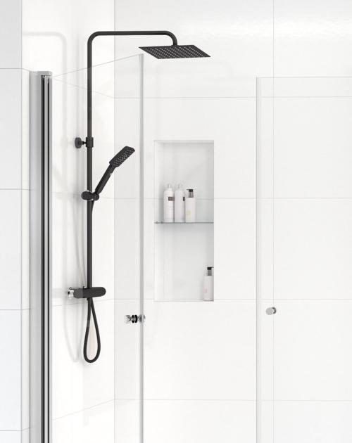 Dusjløsninger fra Gustavsberg showerpipe sort